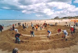 Strandlabyrint Noordwijk 2004