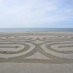 Detail van jij-en-ik labyrint, Ouddorp 2012