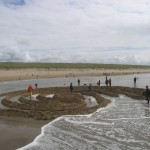 Strandlabyrint loopt vol, Noordwijk 2006