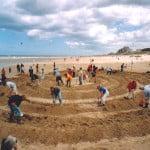 Strandlabyrint graven, Noordwijk 2004